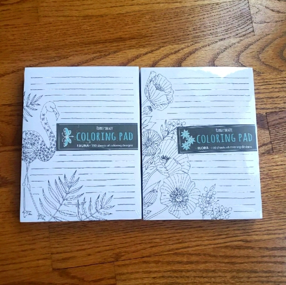 Coloring Note Pads Set of 2